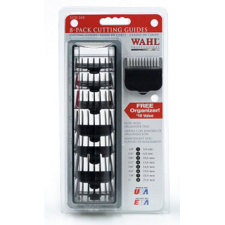 Wahl Attachment comb set # 1-8 black/набор насадок # 1-8, черные с кассетой для хранения